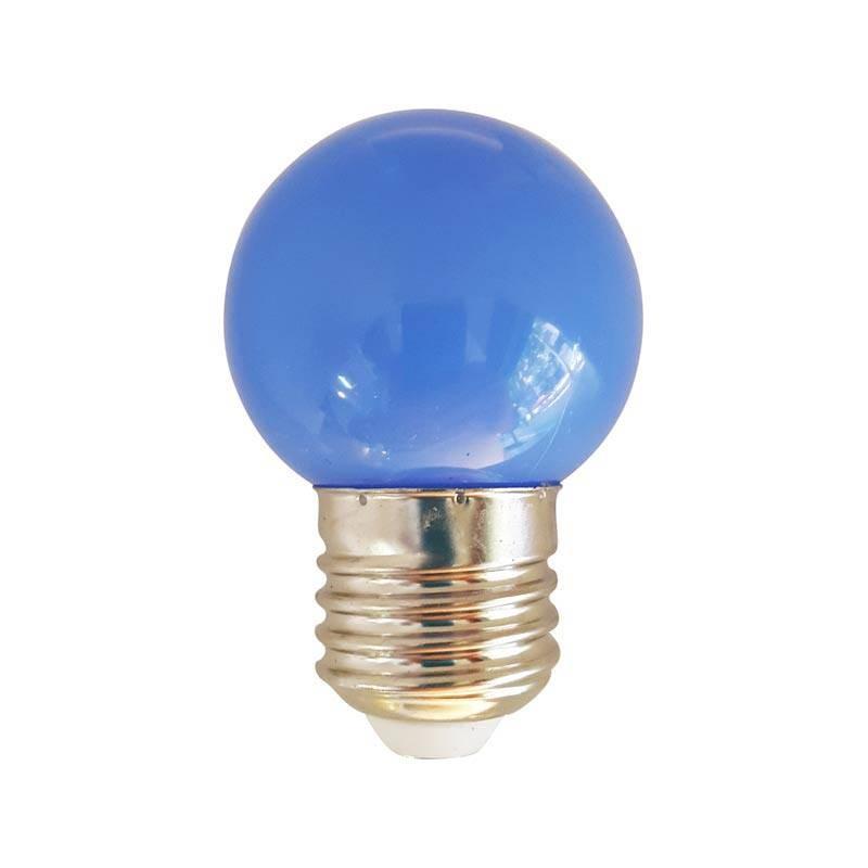 ampoule led bleu 1w culot e27 d corative. Black Bedroom Furniture Sets. Home Design Ideas