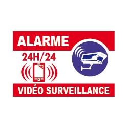 Alarme vidéo surveillance 24h/24 avec logo téléphone