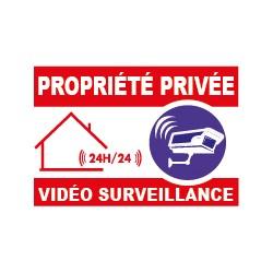 Panneau propiété privée vidéo surveillance