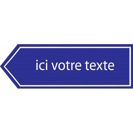 Panneau de direction gauche personnalis - Panneau signaletique personnalise ...