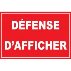 Défense dafficher