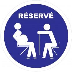 """Adhésif """"Réservé aux personnes âgées et aux femmes enceintes"""""""