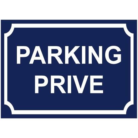 Panneau parking privé castorama