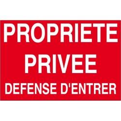 Proprièté privée défense d'entrer