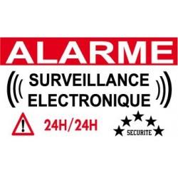 Autocolants de dissuasion panneaux signal tiques for Autocollant alarme maison