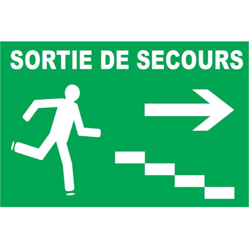 Sortie de secours avec escalier droite Porte de secours