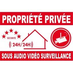 Proprièté privée sous audio vidéo surveillance 150X100