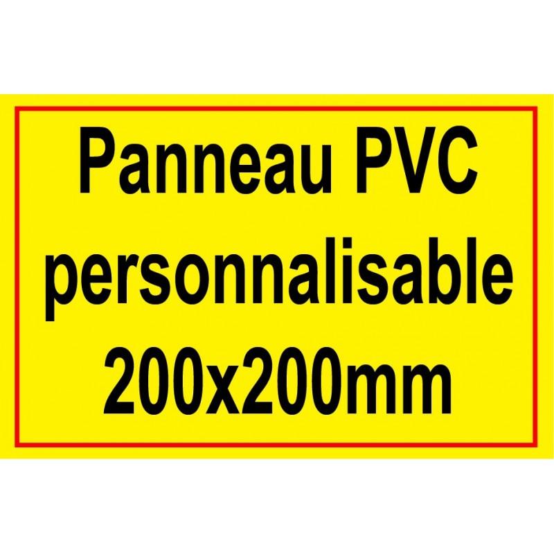 Panneau signal tique personnalis 200x200mm - Panneau signaletique personnalise ...