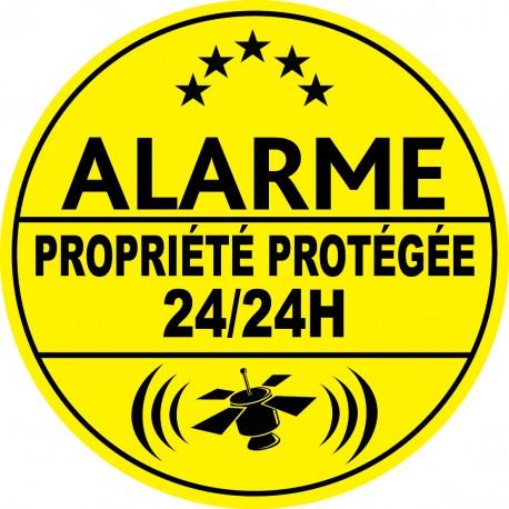 Alarme propriété protégé 24h24 (lot de 10p)