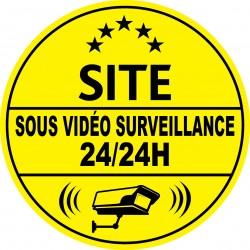 Site sous vidéo surveillance 24h24 (lot de 10p)