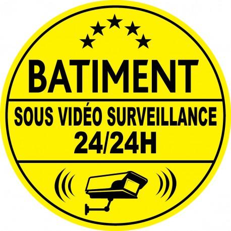 Bâtiment sous vidéo surveillance 24h24 (lot de 10p)