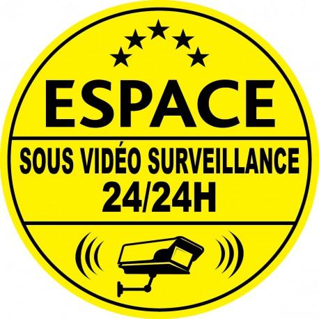 Espace sous vidéo surveillance 24h24 (lot de 10p)