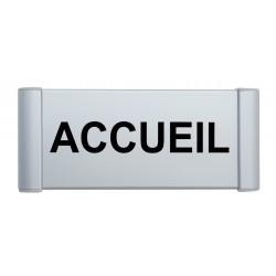"""Plaque de porte Aluminium """"accueil"""""""