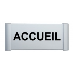 "Plaque de porte Alu ""ACCUEIL"""