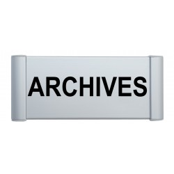 "Plaque de porte Alu ""ARCHIVES"""