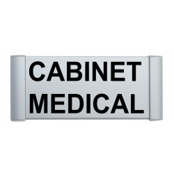 Plaque de porte aluminium cabinet médical