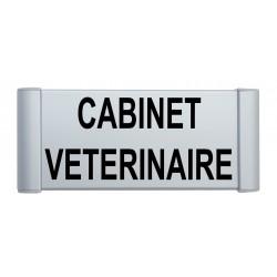 """Plaque de porte Aluinium """"cabinet vétérinaire"""""""