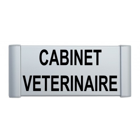 "Plaque de porte Alu ""CABINET VETERINAIRE"""