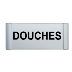"Plaque de porte Aluminium ""douches"""