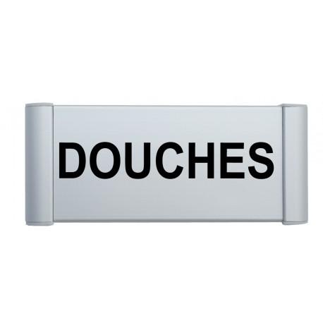"""Plaque de porte Alu """"DOUCHES"""""""