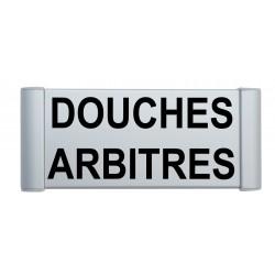 """Plaque de porte Aluminium """"douches arbitres"""""""