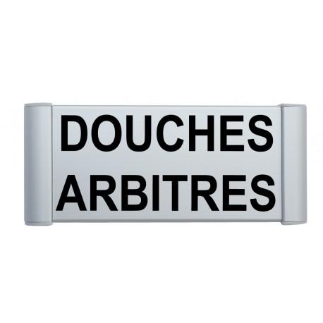 """Plaque de porte Alu """"DOUCHES ARBITRES"""""""