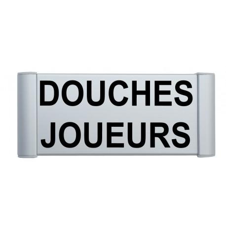 """Plaque de porte Alu """"DOUCHES JOUEURS"""""""