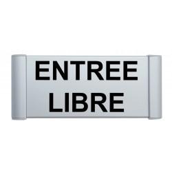 """Plaque de porte Aluminium """"entrée libre"""""""