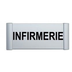 "Plaque de porte Aluminium ""infirmerie"""