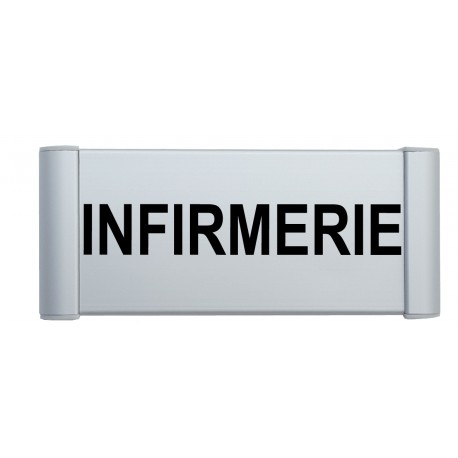 "Plaque de porte Alu ""INFIRMERIE"""