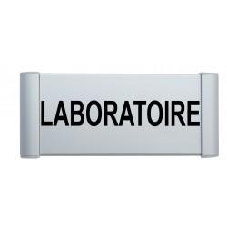 Plaque de porte aluminium laboratoire