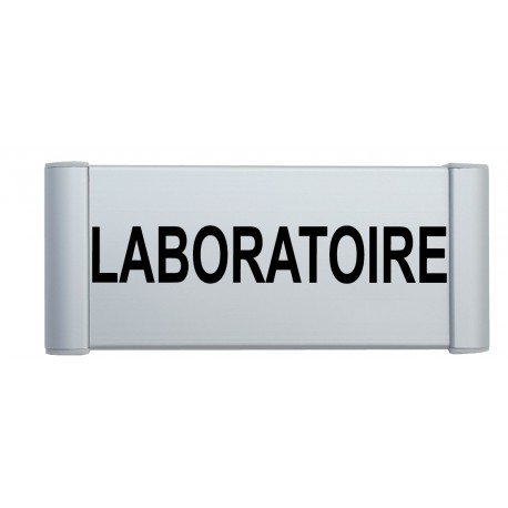 "Plaque de porte Alu ""LABORATOIRE"""