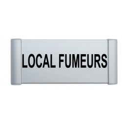 "Plaque de porte Aluminium ""local fumeurs"""