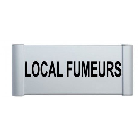 "Plaque de porte Alu ""LOCAL FUMEURS"""