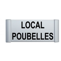 Plaque de porte aluminium local poubelles