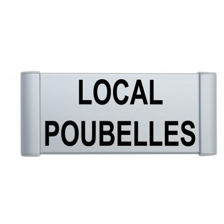 """Plaque de porte Alu """"LOCAL POUBELLES"""""""