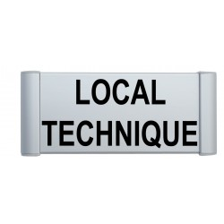 "Plaque de porte Aluminium ""local technique"""