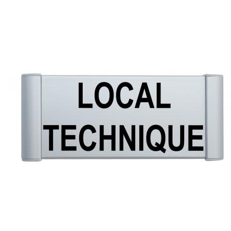"""Plaque de porte Alu """"LOCAL TECHNIQUE"""""""