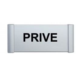 "Plaque de porte Alu ""PRIVE"""