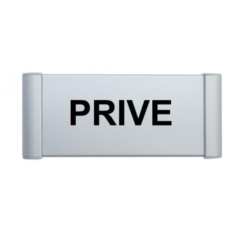 """Plaque de porte Alu """"PRIVE"""""""
