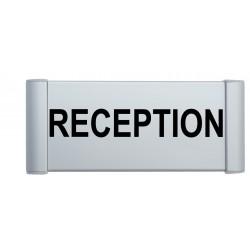 """Plaque de porte Alu """"RECEPTION"""""""