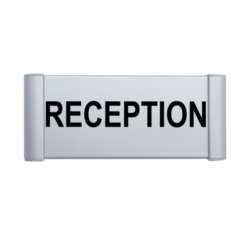 "Plaque de porte Alu ""RECEPTION"""