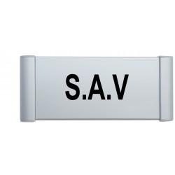 """Plaque de porte Aluminium """"s.a.v"""""""