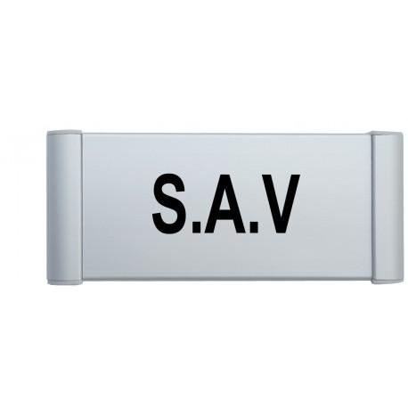"""Plaque de porte Alu """"S.A.V"""""""