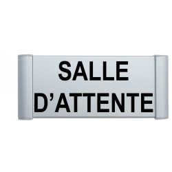 """Plaque de porte Aluminium """"salle d'attente"""""""