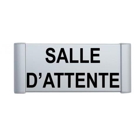 """Plaque de porte Alu """"SALLE D'ATTENDE"""""""