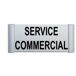 Plaque de porte aluminium service commercial