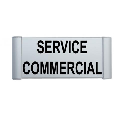 "Plaque de porte Alu ""SERVICE COMMERCIAL"""