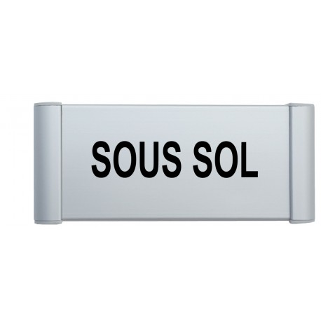 """Plaque de porte Alu """"SOUS SOL"""""""