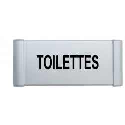 Plaque de porte aluminium toilettes